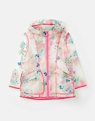 Joules Raindance Clear Showerproof Jacket  - CLEAR FLORAL