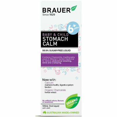 Brauer Stomach Calm 100mL Stomach Upsets Constipation Relief