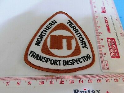 Northern Territory Transport Inspector Patch Genuine & Hard/2/get