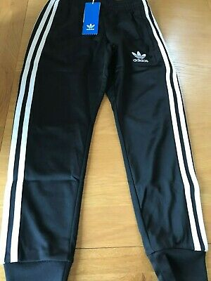 Adidas Tracksuit Bottoms.Age 7-8 Years.BNWT. Black.