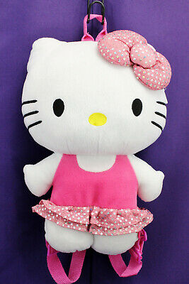 Licensed Hello Kitty Pink Plush Backpack #FU3069318 Discontinued!