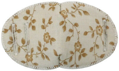 Beige Flowers - Medical Adult Glasses Patch Soft and Washable Sold to the NHS
