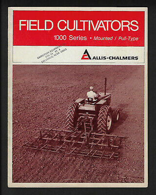 Allis-Chalmers 1000 Series Field Cultivators Mounted Pull-Type 12 Page Brochure