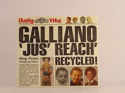 GALLIANO, JUS 'REACH RECYCLED, 1076, EX/EX, 4 Track, CD Single, Card Sleeve, PHO