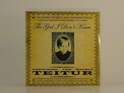 TEITUR, THE GIRL I DONT KNOW, EX/EX, 4 Track, Promo CD Single, Picture Sleeve, A