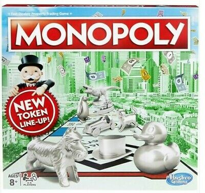 Monopoly Classic New Token Line Up Newest Version Family Game