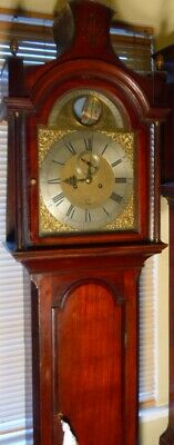 Antique Oak Brass Dial Automation Ship  8 Day Grandfather / Longcase Clock