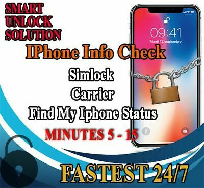 Fast iphone info Check _ IMEI / Simlock status Carrier / Find my IPhone
