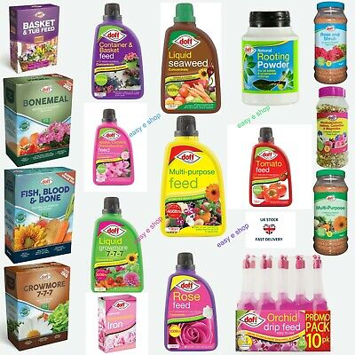 Doff Range of Feed/Weed Kill for Lawn, Plants, Flowers, Vegetables, Rose, Tomato