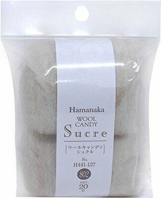 Hamanaka H440-005-523 Real Felt Wool 3 Set Curly Type Red No.523 4977444943216