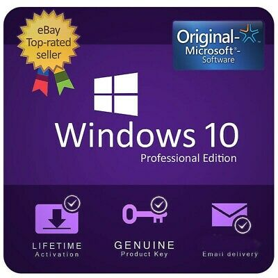 Windows 10 Pro Key Genuine License Original Activation  32Bit / 64Bit