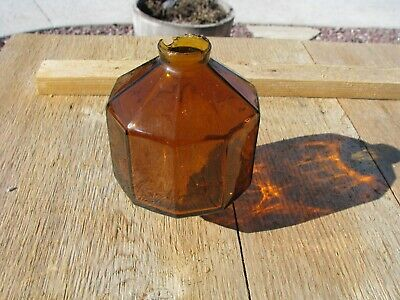 No Name D & S Style Amber 10 Sided Old Lightning Rod Ball