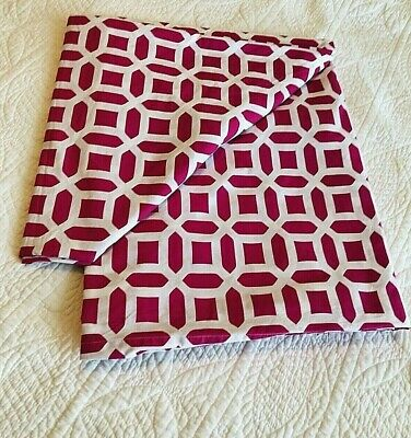 PBteen Pottery Barn Teen Peyton Twin Duvet Cover Bright Pink Magenta Girls EUC