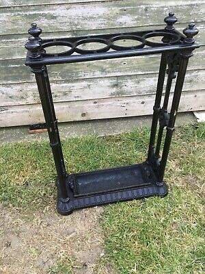 antique cast iron stick stand Late 19 century