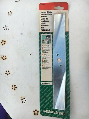 "BLACK & DECKER A6087 12"" 30CM LAWNMOWER BLADE (fits GR200 RM1 Type 4 RMC1 RM2)"