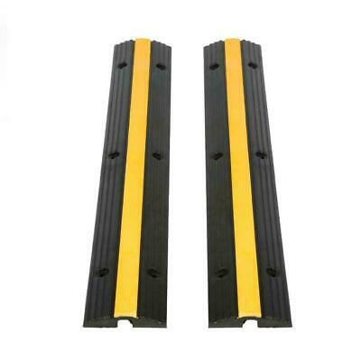 Heavy Duty Single Channel Rubber Speed Bump Cable Protector Cover 99 x 16 x 3cm