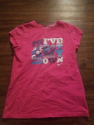 Nike Dri Fit Shirt Girls Youth Large Pink
