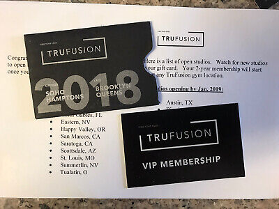 2 Year Truefusion Gym Membership, Compliments Of Ellen Show!