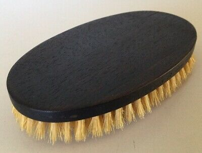 Vintage~1950's Ch. Loonen Ebony Wood Men's Hair Brush / Nat. Bristles / France