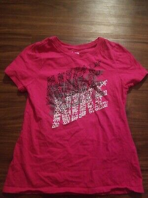 Nike Dri Fit Shirt Girls Youth Medium Pink
