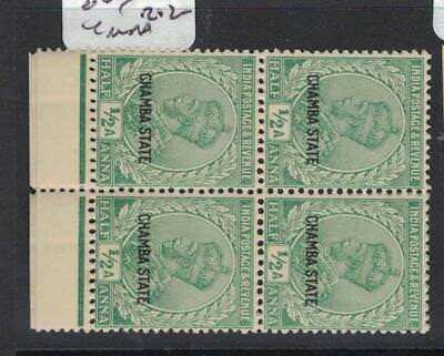 India Chamba SG 63 Block of Four MNH (6drl)