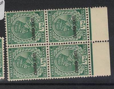India Chamba SG 76 Block of Four MNH (5drl)