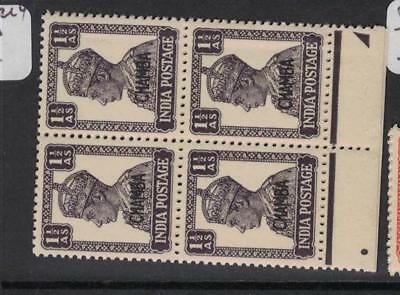 India Chamba SG 112 Block of Four MNH (4drl)