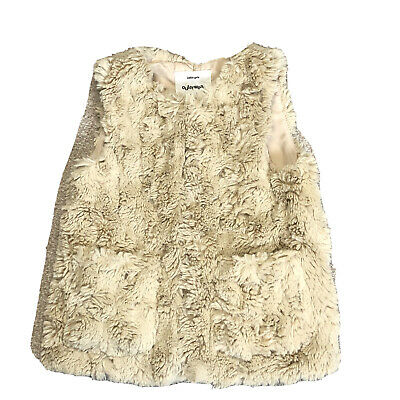 Zara Girls Outer Wear Collection Furry Fluffy Gillet Size 6-7years 120cm