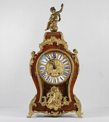 French Louis XV Style Régence Boulle Marquetry Cartel Clock