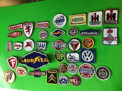 Vintage Car Automobile Oil Patches GoodYear Firestone Jeep Mobil Gas BFGoodrich
