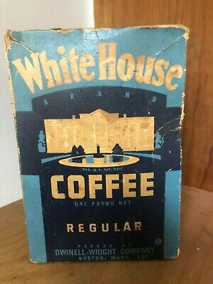 Antique White House coffee box full unopened sealed **$5.00 SHIPPING***