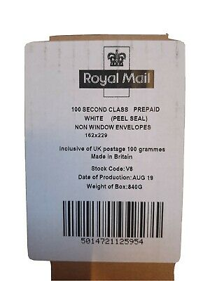 Prepaid Envelopes Pack Of 100 Second Class (Non Window)