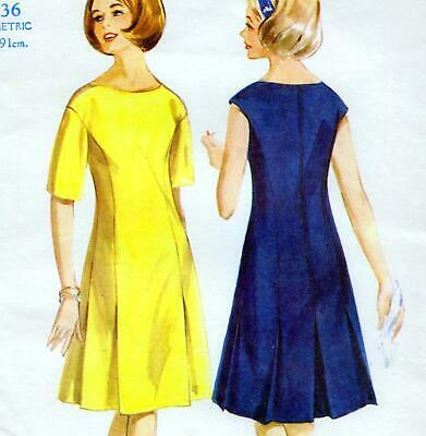 Butterick Sewing Pattern 6582 Misses/' Vintage Retro 60/'s Tight Fitting Dress