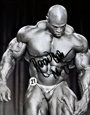 Ronnie Coleman Signed Poster Photo 8X10 Rp Autographed Ron * Mr Olympia