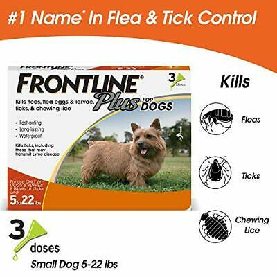 Premium Frontline Plus for Dogs Small Dog (5-22 pounds) Flea and Tick...