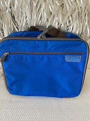 NEW Flight 001 Seat Pak Pro BLUE In Flight Plane Organizer TRAVEL CASE $49
