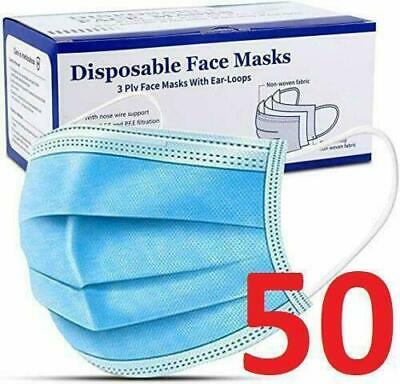 10x Face Mask Surgical Disposable Mouth Guard Cover Face Masks Respiration UK