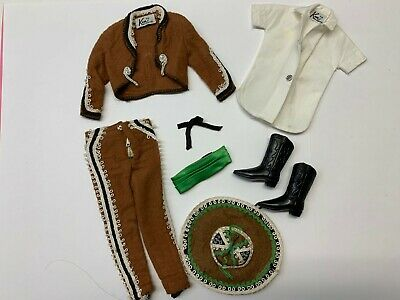 Vintage Barbie KEN IN MEXICO #0778 Outfit with Tie and Boots (1964)