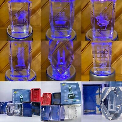 3D Laser Etched Crystal Glass Paperweights With Light