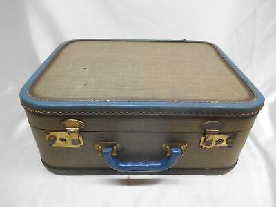 Antique WOOD SUITCASE MAKE-UP TRAIN CASE GARMENT TRAVEL DECOR OLD Vtg