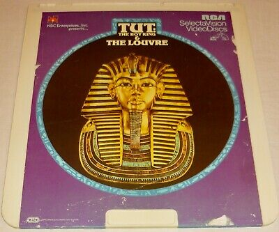 TUT: THE BOY KING & THE LOUVRE - RCA SelectaVision - CED VideoDisc