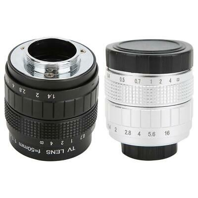 50mm F1.4 C Mount Lens Used with Adapter Ring for Canon Mirrorless Camera
