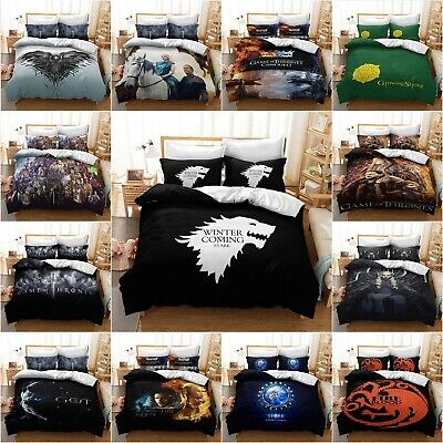 Christmas Gift Game of Throne Theme Design King in the North 3D Duvet Cover set.
