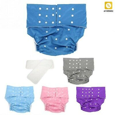Washable Diapers Mat Adult Pocket Nappy Cover Adjustable Reusable Diaper 1Pc
