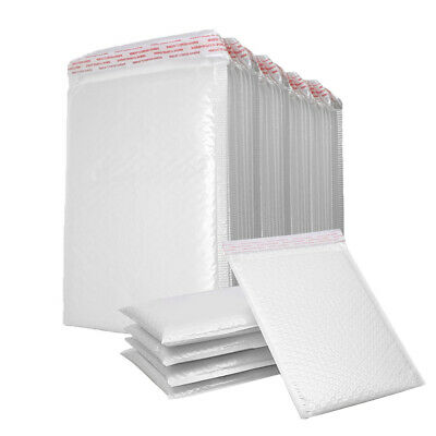 25-200PC Poly Mailer Bubble Mailers Padded Envelopes Self Sealing All Size White