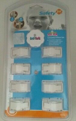 Safety 1st Magnetic Tot Lok Complete 9 Piece Set Key & 8 Locks Secure Cabinets
