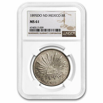 1891-Do ND Mexico Silver 8 Reales MS-61 NGC - SKU#211201
