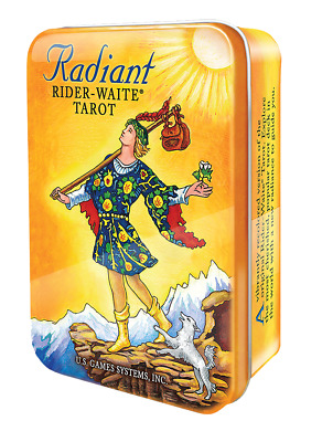Radiant Rider-Waite Tarot Deck in Tin USGS - 78 Major and Minor Arcana Cards