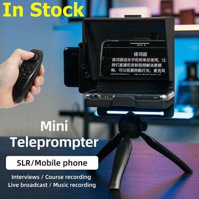 Mini Teleprompter Portable Inscriber Mobile Artifact Video Remote for smartphone