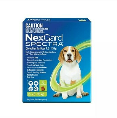 NexGuard Spectra Chewables For Dogs Green 6 Pack for Flea, Tick and Heartworm